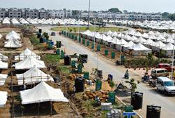 New venue: An entire township has come up on the Agra-Mumbai highway to host the BJP's national executive conclave from Wednesday. Shankar Mourya/Mint