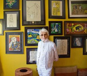 Artist in exile: MF Husain says it's sad he hasn't been able to set foot in his own country, but he doesn't feel victimized. HT