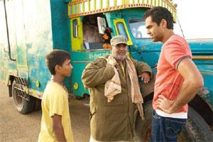 The roadies: (from left) Faizal, Kaushik and Deol in Road, Movie.