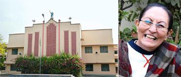 Language flip-flop: After having Hindi as the medium of instruction for the last 30 years, the 142-year-old St Michael's High School (left) in Patna is turning to English; Mary MacDonald (right), a r