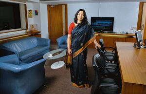 New Goals: Shikha Sharma, who spent nine years heading ICICI Prudential Life Insurance, finds banking far more exciting. It provides a larger canvas, she says. Abhijit Bhatlekar/Mint