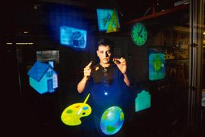 Touch tomorrow: Pranav Mistry says he is working on a blink-based robot control programme in Japan. L Barry Hetherington