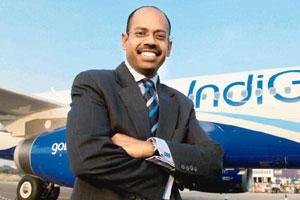 Stepping out: IndiGo's Aditya Ghosh. An early nod will help the airline start talks with global airports and regulators for mandatory approvals. Namas Bhojani/Bloomberg