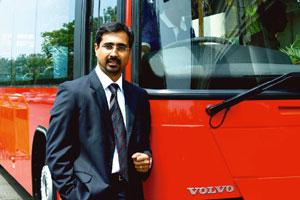 Cruising along: Volvo Buses managing director Akash Passey says demand for luxury coaches has risen, sees sales at 550 units in 2010.