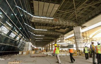 In the wings: The under-construction Terminal 3 of the Indira Gandhi International Airport in New Delhi.Sanjeev Verma/HT