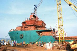 Taking charge: Bharati Shipyard's Ratnagiri unit. Failing shareholder nod from Great Offshore, Bharati will have to make an open offer.