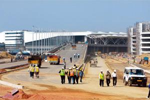 Swanky look: A file photo of the integrated terminal, called T3, under construction at the Indira Gandhi International Airport in New Delhi. Sanjeev Verma / HT