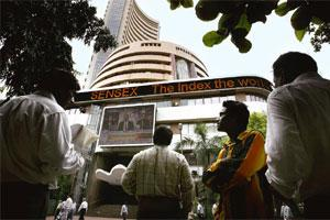 Great expectations: On Wednesday, the Sensex closed 0.35%, or 62.40 points, lower at 17,527.77 points. HT