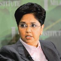 Health concern: Indra Nooyi, chairman and chief executive of PepsiCo. The firm plans to remove sweetened drinks from schools worldwide by 2012. Jamie Rector / Bloomberg
