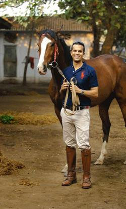 Thoroughbred: DeSousa's passion for riding has influenced his style choices.