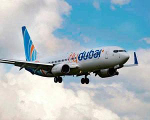 Adding capacity: A FlyDubai aircraft. The carrier which has been allowed three weekly flights between Dubai and Lucknow will have to wait for a fresh round of bilateral talks to operate more flights.