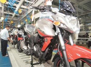 Riding on hope: The Yamaha factory in Greater Noida. Ramesh Pathania / Mint