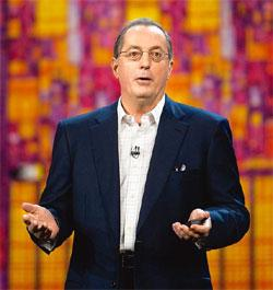 Increasing sales: Paul Otellini, chief executive officer of Intel Corp., is optimistic about the firm's business prospects for 2010 and beyond. Daniel Acker/Bloomberg