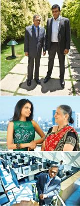 Second life: (from top) Arjun Ramegowda Narayan first met Murthy when he gave a speech at MIT in the early 2000s. Akshay Mahajan / Mint; Akshata (seen here with mother Sudha Murty) has already followe