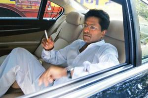 Stumped: IPL chief Lalit Modi in Mumbai on Thursday. I-T officials questioned Modi over corruption allegations for a second successive day. AP