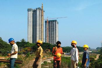Conflict in interest? Tata Housing's Aquila Heights residential project in Jalahalli, North Bangalore. Hemant Mishra/Mint
