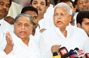 Staying out: Rashtriya Janata Dal chief Lalu Prasad. Shubhav Shukla/PTI