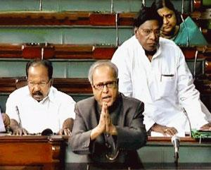 Giving assurance: Finance minister Pranab Mukherjee says the Centre will look into demands for a JPC on phone tapping and IPL. PTI