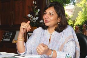 Going strong: Biocon's Kiran Mazumdar-Shaw says the biotech firm intends to unlock some of its value with a few licensing deals this year. Hemant Mishra/Mint