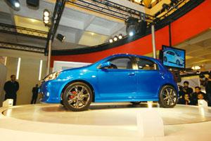 Overseas bound: The Etios, Toyota's small concept car was launched at the 10th Auto Expo in New Delhi on 5 January. Ramesh Pathania/Mint
