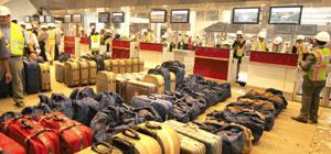 Pending baggage: Of 2,237 AAI employees only 141 chose to join DIAL by 2009. Payment to majority of remaining workers is yet to be made. Sanjeev Verma/HT