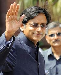 Face value: Tharoor, with his dapper image, has had a rough initiation into politics. Prakash Singh/AFP