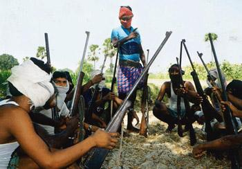 Ringside view: Satnam leaves out arguments on the excesses of the guerrillas. AFP