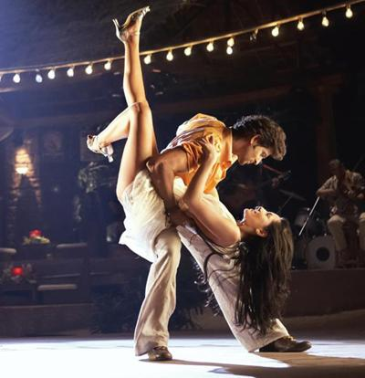 In the groove: J, played by Hrithik Roshan, and Natasha, played by Barbara Mori, romance in Las Vegas, Los Angeles and Mexico in Kites.