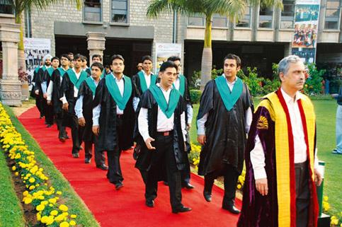 The convocation procession of IIM-B's class of 2010. While IIMs still do not have data on how many women it to the institutes, a conventional class usually has 10-12% female students.
