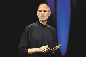 Stunning turnaround: Apple CEO Steve Jobs at the launch of the iPad. Daniel Acker/Bloomberg