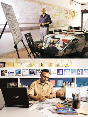 Driving design: Centre for Knowledge Societies' Aditya Dev Sood (top) seeks to unearth nuances of local consumer behaviour, while Desmania Design founder director Anuj Prasad is confident of his 'buil