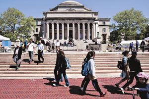 Top draw: US schools such as Columbia University drew 103,260 Indians last year. Bloomberg