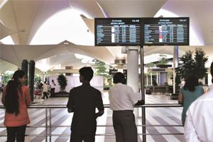 Cost pressure: Mial is modernizing Mumbai airport to handle an annual 40 million passengers by 2012. HT