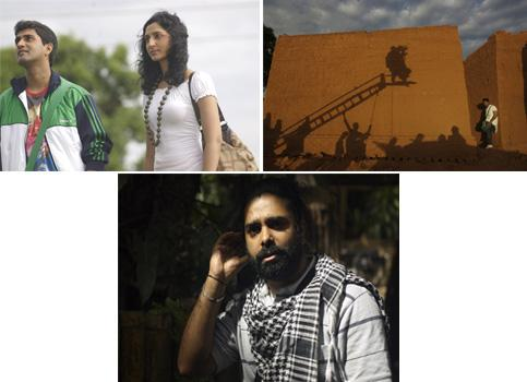 Rolling reel: (clockwise from top left) Actors Harish Raj and Meghana play the lead in Bengaloored; On the sets of Bengaloored; and director Swaroop Kanchi talks about the inevitability of change.