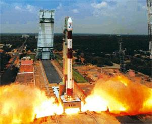 New journey: A file photo of PSLV taking off from the launch pad in Sriharikota, Andhra Pradesh. Isro deferred a scheduled May launch of its workhorse PSLV after it found leaks in the rocket's second