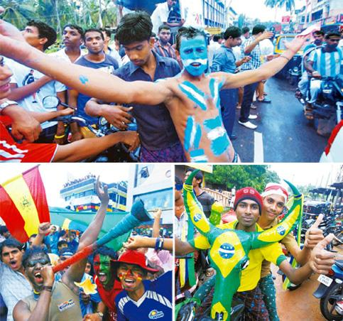 Fan fare: (clockwise from top) Argentina and Brazil fans flaunt their colours. Shaju Karat; and the town goes into carnival mode, complete with vuvuzelas.