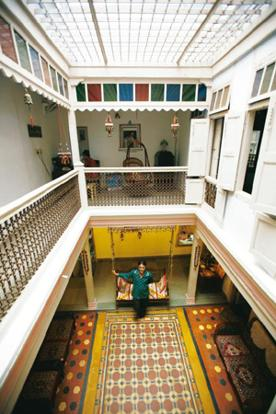 Building blocks: Jagdip Mehta in his haveli. Ramesh Dave / Mint
