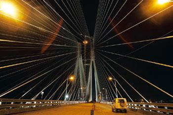 The Bandra-Worli Sea Link is the latest addition to the city's infrastructure. Vijayanand Gupta/Hindustan Times