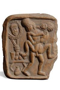 Carved in stone: A terracotta plaque from Bengal, circa 100 BC.