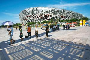 Soaring: Beijing's Bird's Nest stadium is a symbol of the ambitious new China. Natalie Behring / Bloomberg