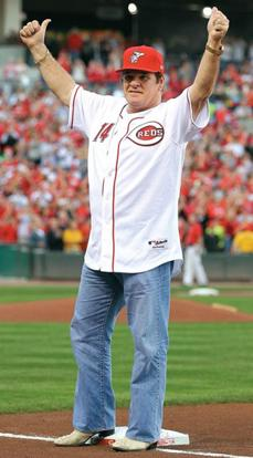 Mr 4,192: Pete Rose celebrating the 25th anniversary of his career-hits record in Ohio. AFP