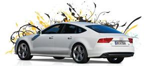Audi: The rear of this version is very different from any of Audi's sports sedan or coupe versions.