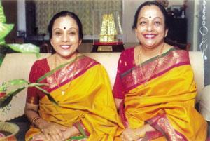 Dulcet duo: Bombay Sisters C. Saroja (left) and C. Lalitha