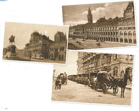 In sepia: (clockwise from above) Esplanade Road or Kala Ghoda; the Bombay Club; and Victorias lined up outside the Taj Mahal Hotel. Photographs courtesy World Luxury Council (India)