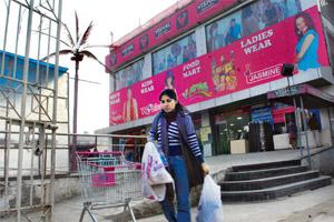 Difficult phase: A file photo of Vishal mega mart. The retailer's debt mounted to Rs730 crore and the company was saddled with hundreds of crores worth of inventory due to an economic slowdown in Indi