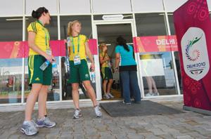 Positive vibes: The Games village is bigger than the one at Melbourne. Priyanka Parashar/Mint