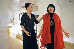 The launch: Shang Xia's artistic director Jiang Qiong Er (left). Philippe Lopez/AFP