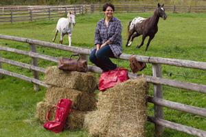 Getting connected: Joanna Wiseberg of Red Scarf Equestrian. NYT