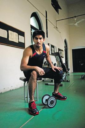 Calm under fire: Singh says too much aggression in the ring doesn't help. Pradeep Gaur/Mint