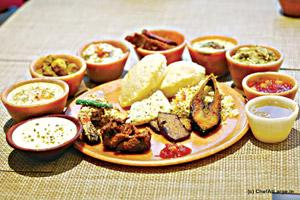 Festive spread: Traditional banquets are an integral part of Durga Puja. Courtesy Brown Sahib